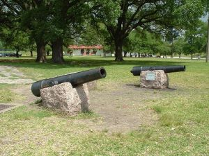 Replica of Twin Sisters at San Jacinto Battleground