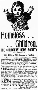 Newspaper Ad for Orphan Train Children
