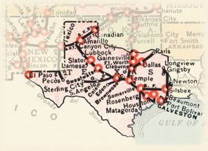 Harvey House locations in Texas