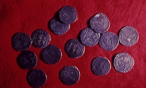 Spanish coins from collection at Corpus Christi Museum of Science and History
