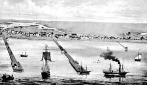 Indianola Port in 1860