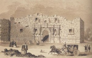 Alamo, drawn in 1854