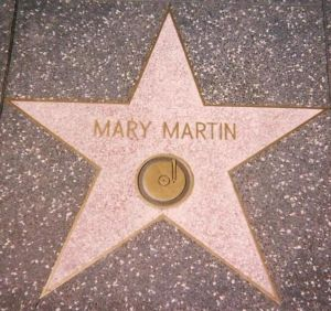 "Star for ""Recording"" on Hollywood Walk of Fame.  She also has a star for ""Radio."""