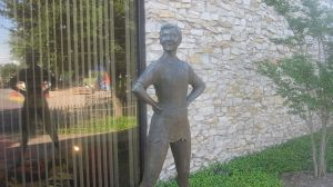Peter Pan statue in Weatherford, TX