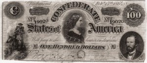 Confederate $100 bill
