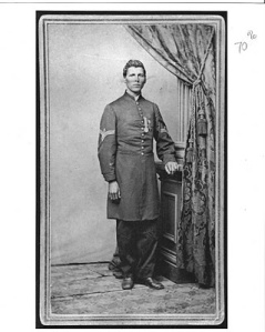 1st Sgt. Milton M. Holland wearing Medal of Honor. Courtesy of Rob Lyon c. 1865