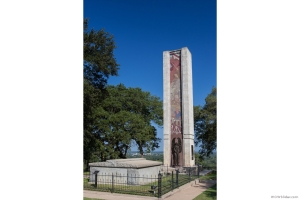 Monument to the fallen in the Dawson Massacre and the Black Bean Episode.