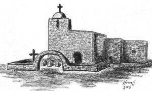 Drawing of Nuestra Señora Del Refugio Mission by Howell, 2005