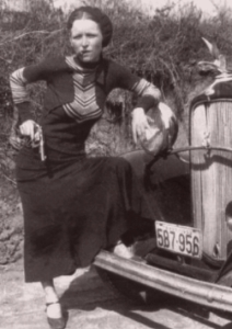 Bonnie Parker posing with cigar. Wikipedia