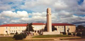 New school and cenotaph completed in 1939