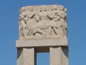 Cenotaph designed by sculptor Matchett Herring Coe
