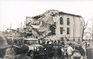 Wrecked New London School