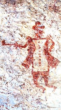 Pictograph of European Man Photo from ANRA-NPS Archives at TARL