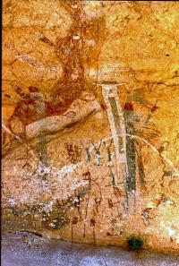 Human-like figure in White Shaman Cave. Photo by Steve Black, TARL