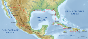 Route of the Cabeza de Vaca Expedition