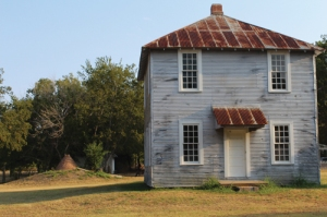 One of the original buildings on the Kaufman County Poor Farm.
