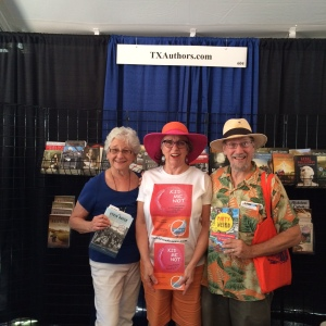 Myra, Aralyn & Howie in the Texas Assoc of Authors tent at the Texas Book Festival