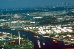 Buffalo Bayou portion of the Houston Ship Channel