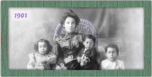 Adelaida Cuellar and the first of her dozen children.