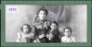 Adelaida Cuellar and the first of her dozen children.