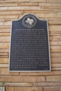 Texas Historical Marker, Big Spring