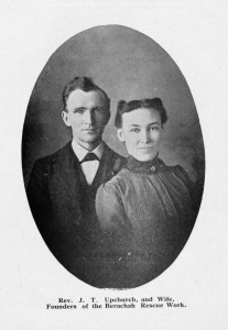 Portrait photograph of Rev. J.T. Upchurch and his wife, founders of the Berachah Rescue Work library.uta.edu