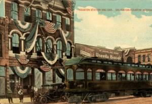Houston Station--Galveston-Houston Interurban c. 1915