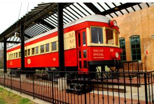 Electric rail car at the Plano Railway Museum